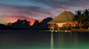 Four Seasons Bora Bora Resort at Sunset