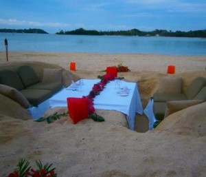 Sand-Dinner