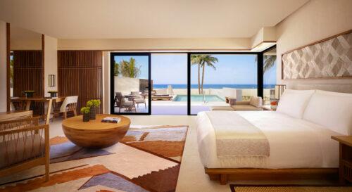 Nobu Hotel Los Cabos Junior Suite Private Pool Oceanfront King Bedroom