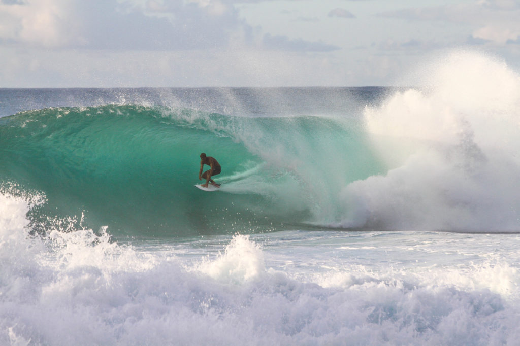 Surfing on Oahu's North Shore